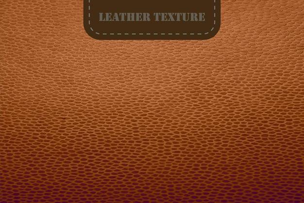 Texture in pelle marrone vettoriale con etichetta sfondo texture realistica pelle animale naturale