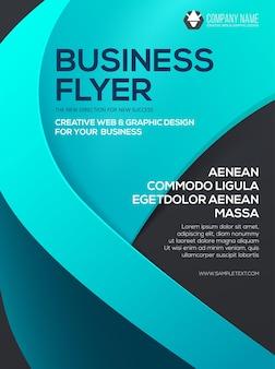 Volantino di affari di vettore. modello di volantino. manifesto per la tua attività. presentazione della copertina
