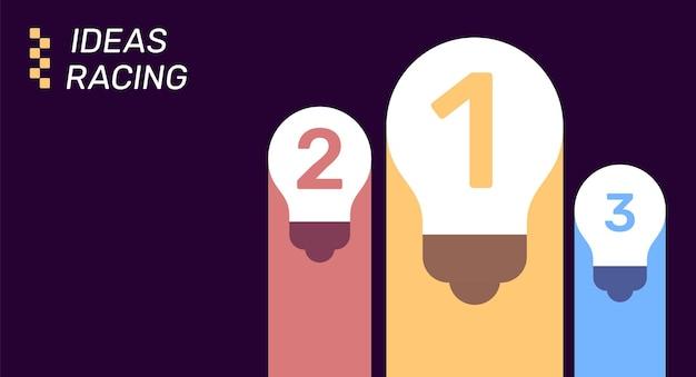 Modello di elemento infografica aziendale vettoriale illustrazione creativa di 3 passaggi di laurea
