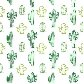 Fondo senza cuciture di colore del modello del cactus di vettore
