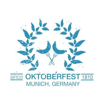 Insieme di vettore dei modelli di logo disegnati a mano dell'oktoberfest. logotipi del festival tedesco. distintivi e icone vintage. icone moderne abbozzate a mano. etichette dell'oktoberfest.