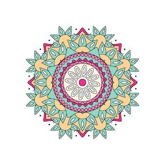 Mandala colorata vettoriale