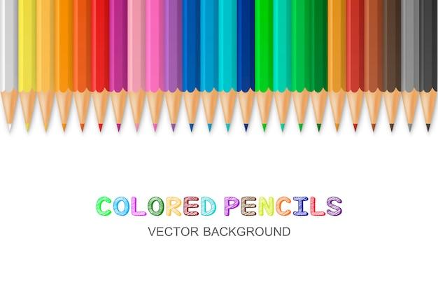Matite colorate vettoriali