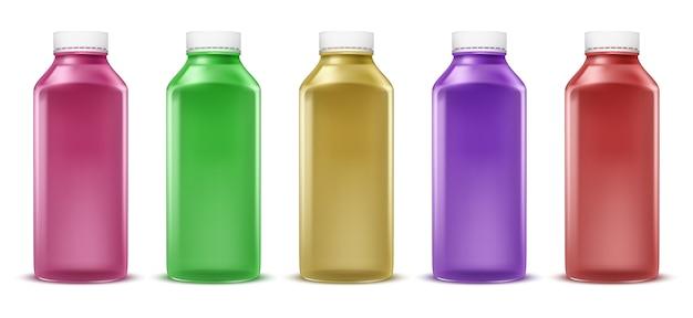 Vector bottiglie colorate per il succo