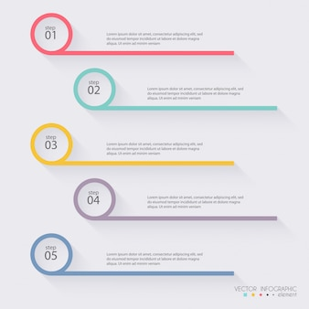 Grafica colorata di informazioni vettoriali per presentazioni aziendali.