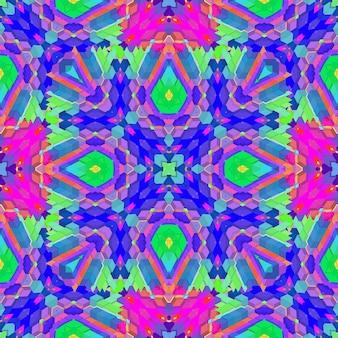 Vettore colorato varie forme vibrante futuristico alta dettagliata sfondo geometrico astratto caleidoscopico modello senza cuciture