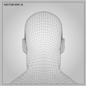 Vector il concetto o il maschio umano concettuale del wireframe 3d