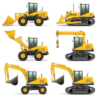 Set di macchine edili vettoriali 3