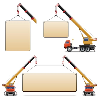 Set di macchine edili vettoriali 6