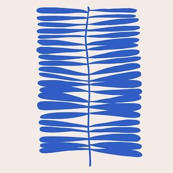 Risorsa grafica dell'illustrazione del motivo della foglia di forma moderna contemporanea di vettore