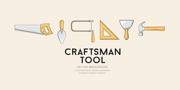 Illustrazione del fondo di progettazione dello strumento dell'artigiano di vettore