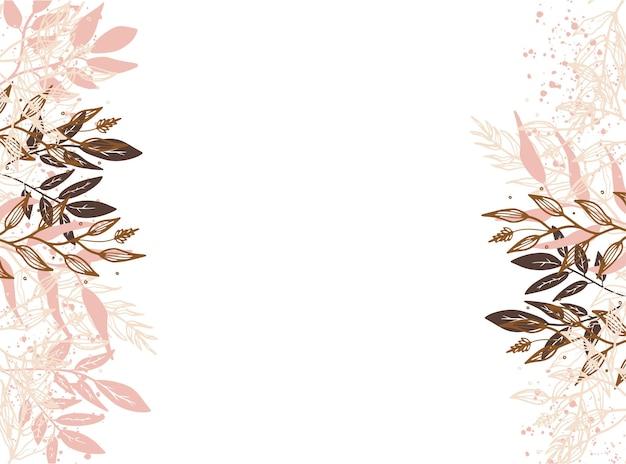 Modelli di design vettoriale in stile semplice e moderno con spazio di copia per testo, fiori e foglie - sfondi e cornici per inviti di nozze, sfondi per storie di social media