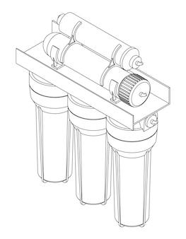 Filtro per acqua potabile vettoriale, sistema domestico ad osmosi inversa