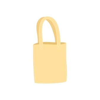 Borsa ecologica vettoriale isolata su bianco usa borsa ecologica non usare busta di plastica illustrazione moderna i