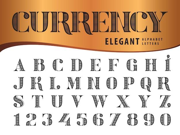 Vettore di lettere dell'alfabeto elegante