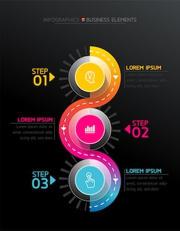 Elementi vettoriali per infografica.