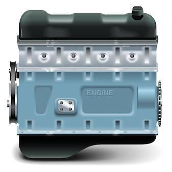 Motore vettoriale isolato su sfondo bianco