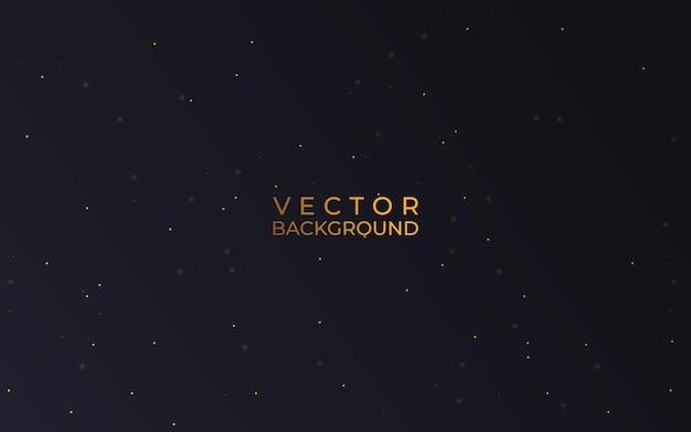 Vector eps 10 effetto polvere glitter oro lucido. decorazione di sfondo di particelle d'oro scintillanti.