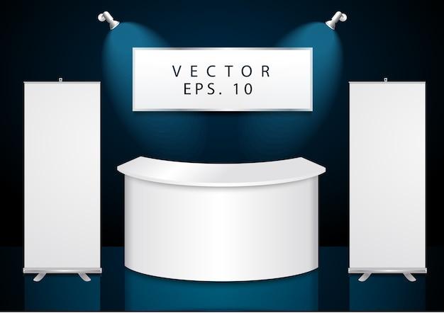 Vector design stand espositivo