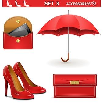 Set di accessori femminili vettoriali 3