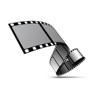 Bobina di striscia di pellicola vettoriale. sfondo del nastro di pellicola 3d del cinema di film