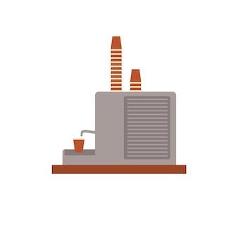 Macchina da caffè piatto vettoriale dei cartoni animati con bicchieri di plastica isolati su sfondo vuoto-fast food cafe, industria della ristorazione elettrodomestici da cucina concetto di elementi interni, design di banner sito web