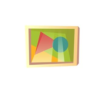 Immagine della parete del fumetto piatto vettoriale isolato su elementi interni di sfondo vuoto-soggiorno, comfort, concetto di vita domestica, design di annunci banner sito web