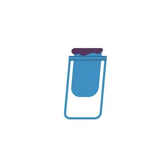 Pattumiera del contenitore dei rifiuti piatto del fumetto vettoriale isolato su sfondo vuoto-pratico dispositivo di strada per il concetto di raccolta e smaltimento dei rifiuti, progettazione di annunci banner sito web