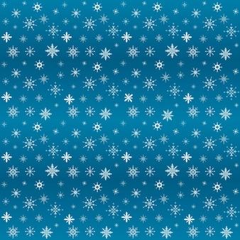 Illustrazione piana di vettore. set di fiocchi di neve lucidi di capodanno e natale. decorazione di sfondo. modello senza soluzione di continuità.
