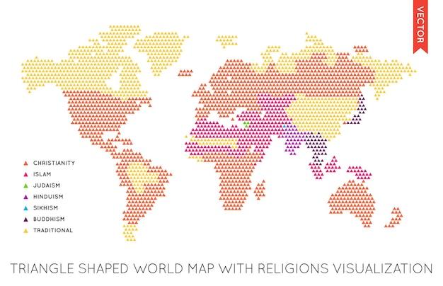 Infografica di vettore piatto mondo mappa. mappa del mondo.