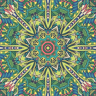 Mandala di arte floreale vettoriale medaglione decorativo esign primaverile ed estivo