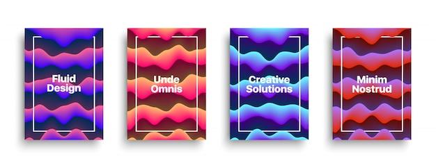 Vector fluid brochure flyer design template