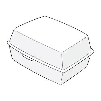 Vettore di scatola di schiuma