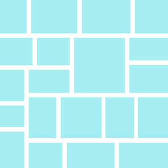 Cornice vettoriale per foto e immagini collage di foto puzzle di foto su sfondo giallo modelli cornici di collage per foto o illustrazione vector mood board presentazione del marchio