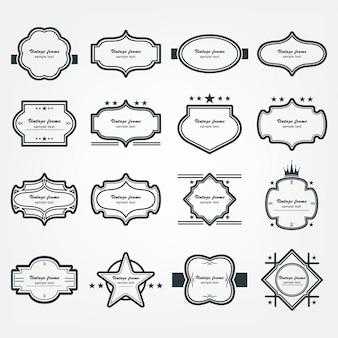Struttura d'annata ornamentale stabilita stabilita della struttura di vettore