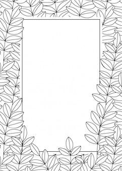 Telaio vector con foglie e spazio per il testo