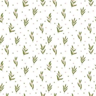 Reticolo fresco di vettore di foglie tropicali in stile incantevole.