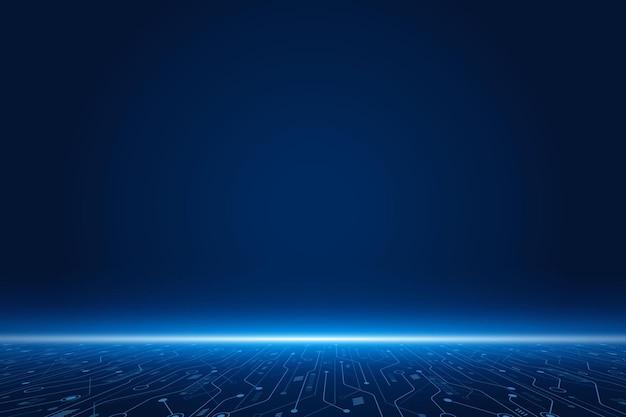 Sfondo tecnologia futuristica vettoriale scheda madre elettronica concetto di comunicazione e ingegneria