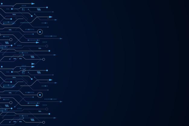 Sfondo tecnologia futuristica vettoriale scheda madre elettronica comunicazione e ingegneria