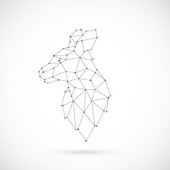Illustrazione di canguro geometrico vettoriale