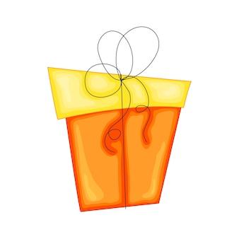 Confezione regalo vettoriale. bellissima scatola regalo con fiocco travolgente.