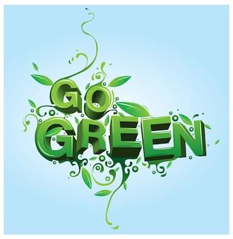 Il vettore va illustrazione del manifesto verde