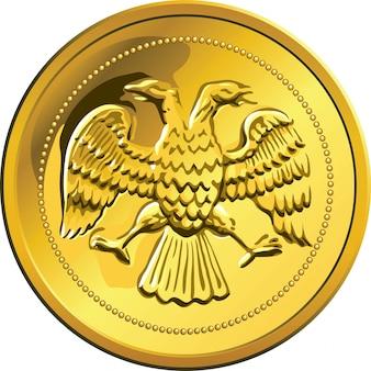 Moneta d'oro vettoriale, rublo soldi rossian