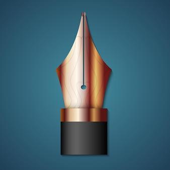 Penna stilografica in oro vettoriale