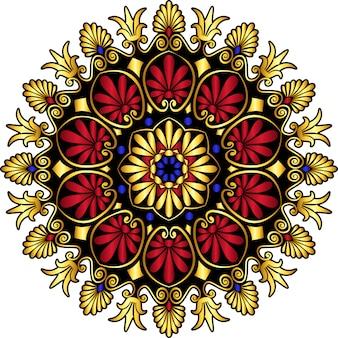 Ornamento greco dell'oro di vettore meandro