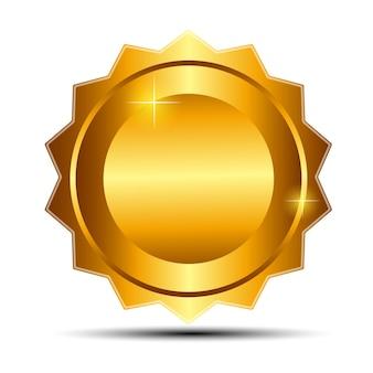 Segno d'oro vettoriale, modello di etichetta