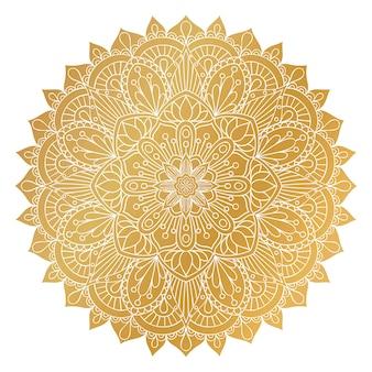Ornamento mandala d'oro di vettore.