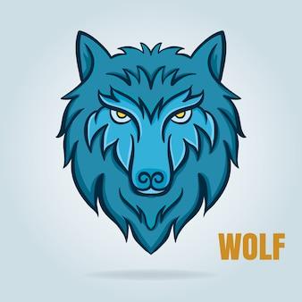 Grafica vettoriale del lupo