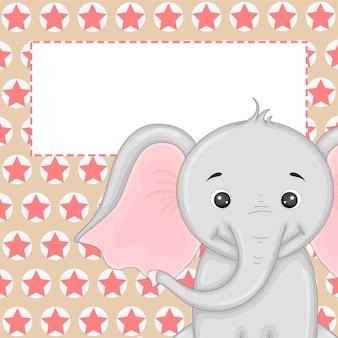 Grafica vettoriale con illustrazione di un elefante.
