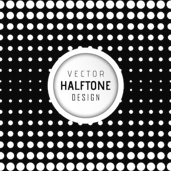 Vector halftone design background